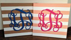 DIY Monogram Wall Art for the Nursery or Child's Room - #walldecor #DIY #nursery #monogram