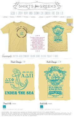 """Under the Sea"" themed social t-shirt."