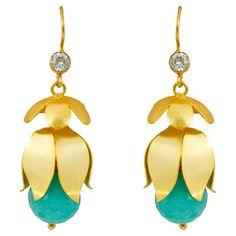 Daffodil Earrings fashion ring, style, jojo jewelri, accessori, daffodil earring, daffodils, baubl, jewelri jubile, earrings