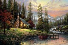 A Peaceful Retreat by Thomas Kincaid