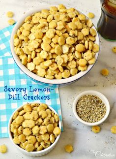 No one can resist these Savory Lemon-Dill Crackers! A perfect after-school or football watching snack. At littlemisscelebration.com