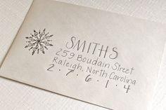 #Christmas Card Addressing Stuffing Mailing by Beflourish on Etsy, $1.25