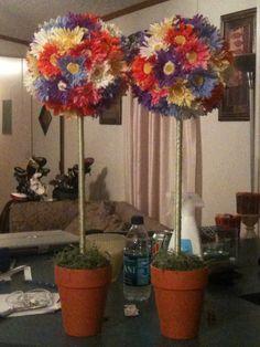 flower balls for lindsey's wedding shower  @Courtney Wilkerson