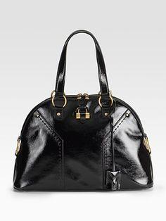 Yves Saint Laurent - Patent Leather Muse Bag - Saks.com