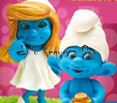 Smurfs e Smurfete confeccionadas em Biscuit, para dar de lembrancinha, decorar sua festa ou até mesmo o bolo.