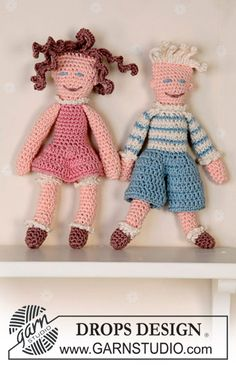 """The dolls """"Peter"""" and """"Pernille"""" ~ DROPS Design. Lovely share, thanks so much xox"""