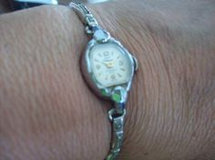 Vintage Silver Wristwatch Waltham 17 Jewels by vintagecitypast, $15.00