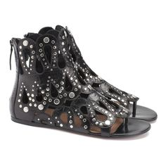ALAIA FLATS @SHOP-HERS I've always been a little afraid of gladiators, but I think I'm feelin these...