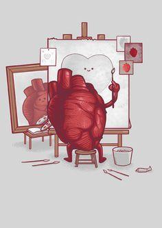 Self Portrait Love Card | Open Me
