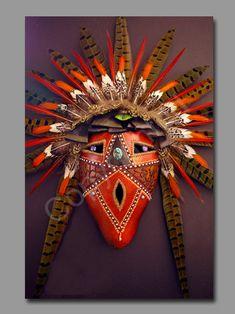 "*Gourd Art  - ""Bright Eyes"" by Dave Sisk"