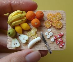 miniature food -realistic fruits polymer clay