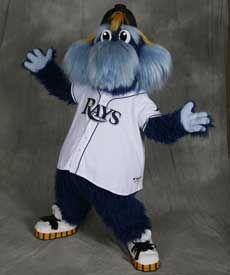 Raymond Ray Tampa Bay Rays mascot