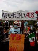 Alberto Colorado at AIDS Conference march in July 2012.
