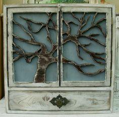 Large Oak Tree Cabinet
