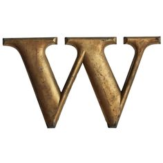 1920's Woolworth Cast Iron Letter W/M