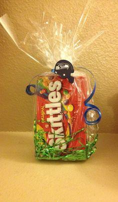 One Dozen (12) Seattle Seahawks Skittles Party Favors Super Bowl on Etsy, $30.00