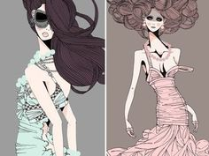 Miss Blossom Design™ Style Inspiration Blog: Graphic, Web, Fashion, Interior and Object Design: Modern Fashion Illustration