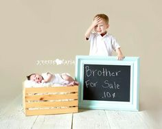 Newborn with big brother. Siblings