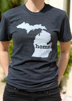 Michigan, you can take the girl out of Michigan, but you can't take Michigan out of the girl :) I want this shirt...