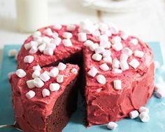 Chocolate cola cake with vivid red frosting - the ultimate birthday cake? foods, chocolates, chocol cola, bake, cola cake, cake recip, jame martin, chocolate cakes, birthday cakes