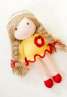 Crochet Doll - amigurumi - custom spot in your choice of colours