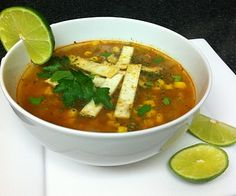 Skinny Tortilla soup .. Yummm ; )