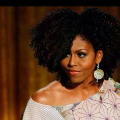 first ladies, au natural, natur hair, michelle obama, michell obama, rock, hairstyl, big hair, curly hair