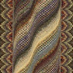 Rolling Prairie Bargello quilt by Mabeth