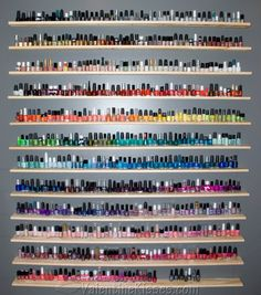 nail polish storage, dream come true, heaven, color, nailpolish, nail polish collection, hous, shelv, rainbow
