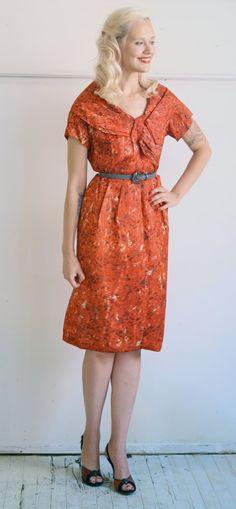1950s Dress // Lora Lenox Red Sheath // Vintage by dethrosevintage, $68.00