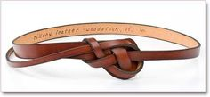 Rilleau Leather Knotted Belt
