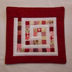 Scrappy Trails Mini Quilt Coaster Mug Rug or by Scrappyquilter, $5.00
