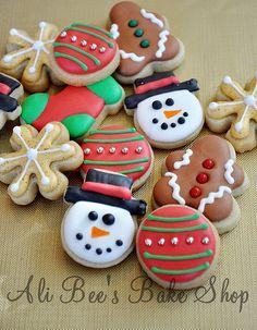 christmas mini cookies- super cute
