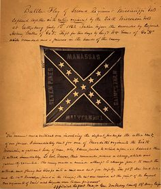 Confederate Battle Flag of the 2nd Mississippi captured at the Battle of Gettysburg, 1863, by the Wisconsin 6th regiment.
