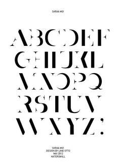 SKRAA#01 – Font Design by Line Otto