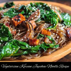 Vegetarian Korean Japchae Noodle Recipe