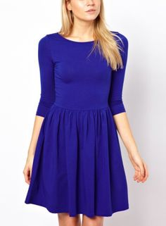 blue cotton dress. how beautiful. can be dressed up or dressed down