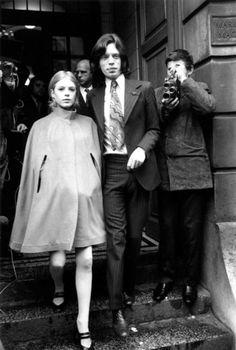 Mick Jagger and Marianne Faithfull, 1960s.