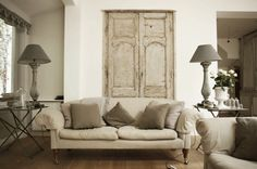 the doors, living rooms, salvaged doors, color, neutral rooms