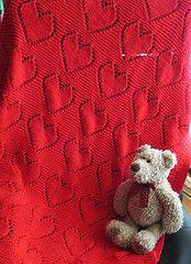 big hearts baby blanket