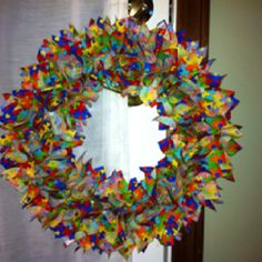 Autism fabric wreath that I made.