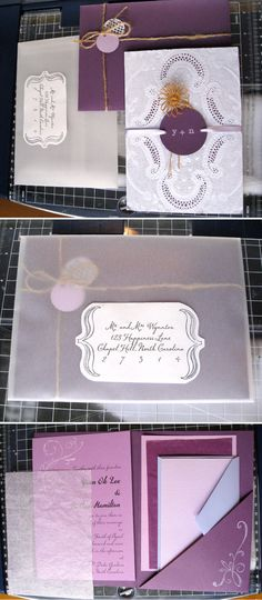 DIY wedding stationary.