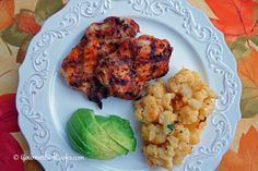Gourmet Girl Cooks: Grilled Chipotle Chicken w/ Parmesan Roasted Cauliflower