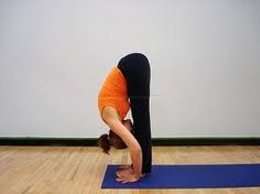 Yoga -- Forward Fold. Trying to do this.