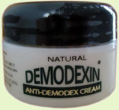 DEMODEXIN Natural Cream for facial skin affected with  Demodex Mites. DEMODEXIN