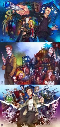 Doctor Who Art: Doctors 9, 10 & 11
