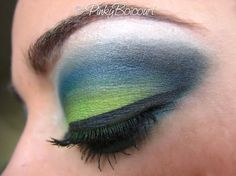 seahawks inspired makeup
