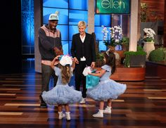 Ellen gives personalized hats to Sophia Grace & Rosie and tWitch.