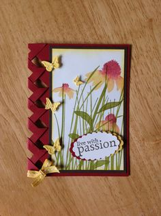 Stampin Up handmade all occasion card - live with passion with braid