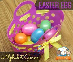 activities for kids, letter, preschool easter, easter eggs